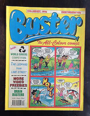 Buster Comic 25 August 1990. Vfn. Lovely  Condition