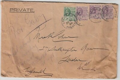 MARITIME 1926 MIDLAND BANK official cover BRITISH GUIANA-LONDON with PAQUEBOT cd