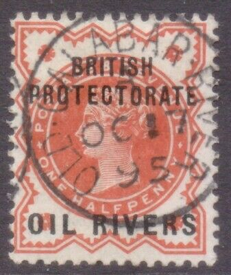 "Nigeria  Oil Rivers Protectorate  Postmark / Cancel  ""old Calabar River""  1895"