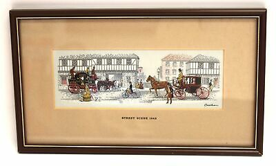 CASH 'Transportation 19th Century, Street Scene' Woven EMBROIDERED ARTWORK - S77