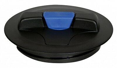 8″ Lid with blue snap-in vent, fits Norwesco tanks after 2008