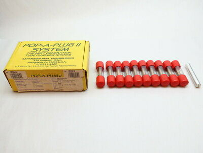 Box Of 10 Expansion Seal P2-540-B Pop-a-plug Ii Brass Tube Plug 0.54in