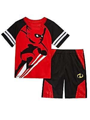 53abe8679d6cf Disney Incredibles Toddler & Boys Red Dash Outfit Tee Shirt & Shorts Set