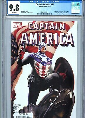 Captain America #34 CGC 9.8 Epting Cover New Captain America Marvel 2008