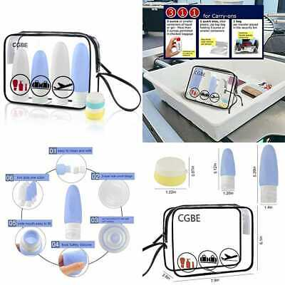 2 PACK Travel Toiletry Bag TSA Approved Clear Cosmetic Airline Compliant Carry O