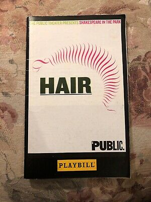 Hair Public Theatre Shakespeare In The Park Playbill 2008