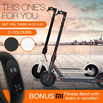 Folding Electric Scooter with Xiaomi Mi Fitness Band 2 - Adults Foldable Kids