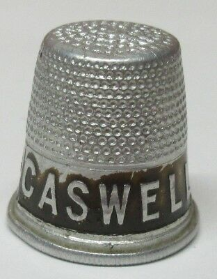 Vintage Caswell Coffee Advertising Metal Thimble