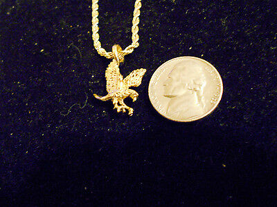 bling gold plated MYTH CELT eagle MASCOT fashion pendant charm necklace JEWELRY