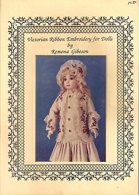 VICTORIAN RIBBON EMBROIDERY FOR DOLLS - Remona Gibeson - PB