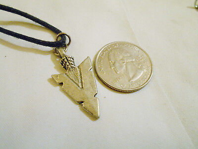 bling INDIAN pewter arrowhead myth legend fashion PENDANT charm necklace jewelry