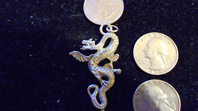 bling pewter stonehenge myth celtic legend DRAGON pendant charm necklace jewelry