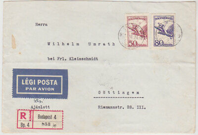 HUNGARY 1931 (24.2.) AIRMAIL COVER BUDAPEST (airs franking) TO GÖTTINGEN GERMANY