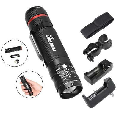 Zoomable 6000 Lumen 5 Modes T6 LED 18650 Flashlight Torch Lamp Light+USB AE
