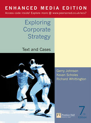 Exploring corporate strategy. Text and cases by Gerry Johnson (Multiple-item