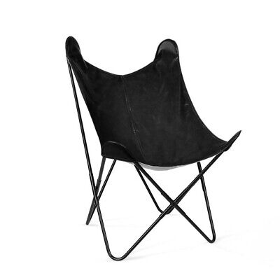 Artiss PU Leather Butterfly Chair - Black
