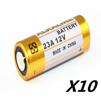 10pcs 12V Batteries 23A  A23 E23A  MS21 MN21 V23GA L1028 Alkaline Dry Batteries