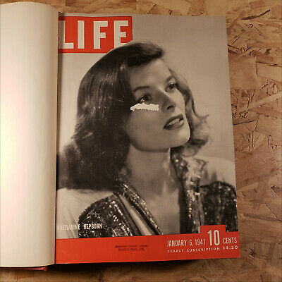 Life Magazine January February March 1941 Bound Book Rare Vintage Red #10 Volume