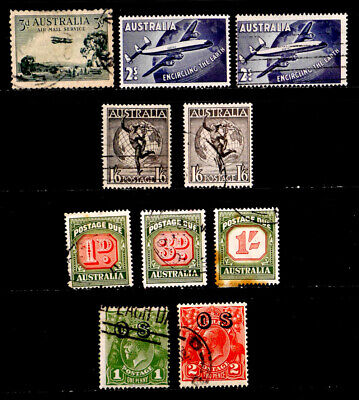 Australia: Classic Era - 50's Stamp Collection, Airmail, Postage Dues, Officials