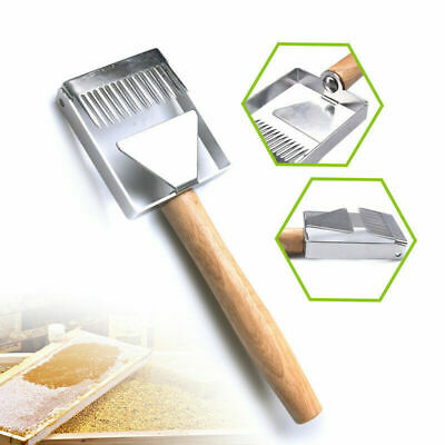 Stainless Steel Bee Hive Uncapping Honey Fork Scraper Shovel Beekeeping Tools