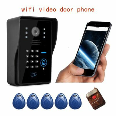 WIFI Wireless Video Door Phone System alarm system Card Unlock & Remote Control