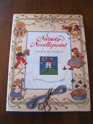 Nursery Needlepoint: by Fiona McTague: 30 delightful Projects: 1994:  Preloved