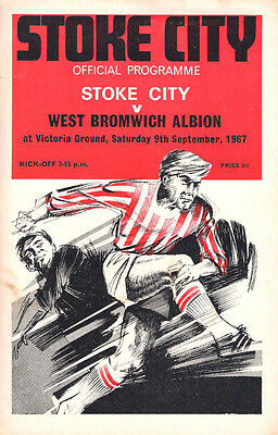 STOKE CITY v WEST BROMWICH ALBION ~MATCHDAY PROGRAMME~1967~DIVISION 1~V G C~
