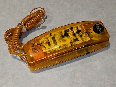 CANDIES Orange See-Through/Clear Touchtone Phone Vintage 80s/90s Translucent