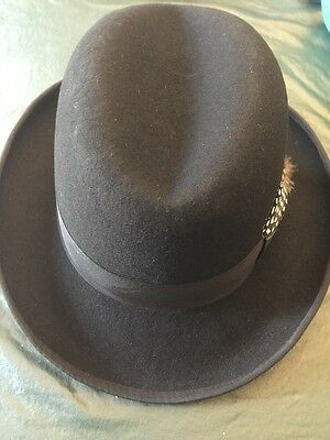 08e8e0045a9 MEN BOWLER HAT Black Wool by Stacy Adams -  30.00
