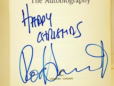 ROD STEWART The Autobiography HAND-SIGNED Authentic Autograph *FACES JEFF BECK*
