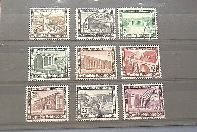 German Stamps.1936 THIRD REICH SET. USED. SCARCE.