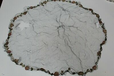 Antique Victorian Embroidered net mourning veil for hat or hair