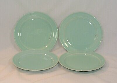 LURAY Pastels GREEN Bread Plates 6 1/4 inches Set of 4 Taylor Smith & Taylor