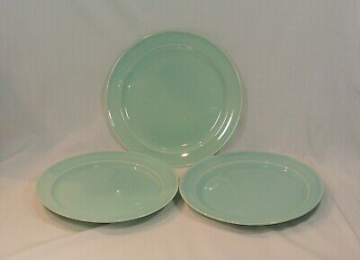LURAY Pastels GREEN Dinner Plates 9 inches Set of 3 Taylor Smith & Taylor
