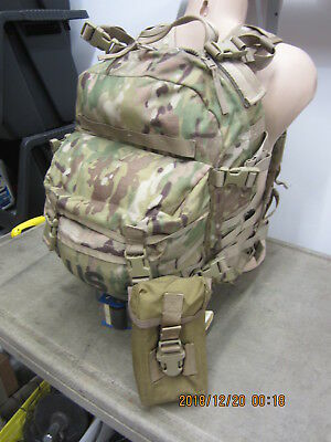 MOLLE II Multicam OCP 3 Day Assault Pack USGI Army Bugout & Trijicon Optic Pouch