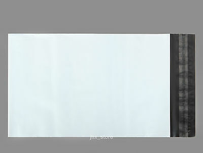 """10 Small Poly Envelope Mailers White Plastic Mailing Bags 5"""" x 7""""_125 x 180+45mm"""