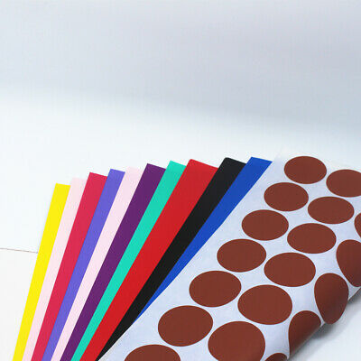 Round Diameter 3cm Colorful Kraft Paper Self Adhesive Label Stickers A4 Paper