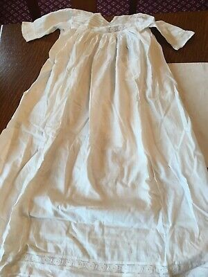 VINTAGE 1930's COTTON BRODERIE ANGLAISE CHRISTENING DRESS BY THE BELMONT