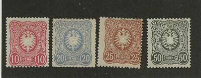 Germany Sc# 39-42 Mlh Stamps