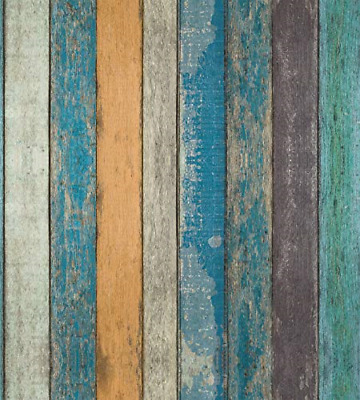 Rustic Plank Wood Wallpaper - Wood Peel and Stick Wallpaper - Contact Paper or -