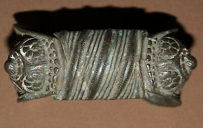 Antique Greek bronze female fertility bracelet