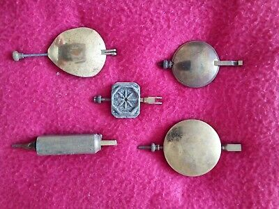 Antique Brass/lead X5 Clock Pendulums Various Style English Quality