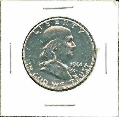 1961 United States Franklin Half Dollar 50c Coin CM521