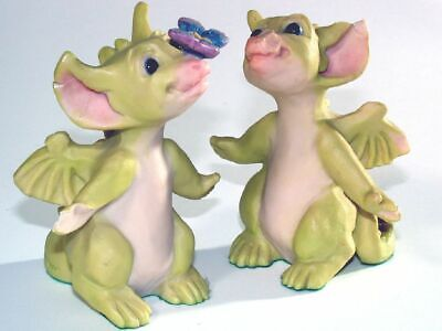 "2x Pocket Dragon The Whimsical World "" Butterfly Kisses "" von 1994 unboxed"