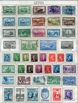Canada 1942-61, collection of 116 mint & used on 3 illustrated album pages.