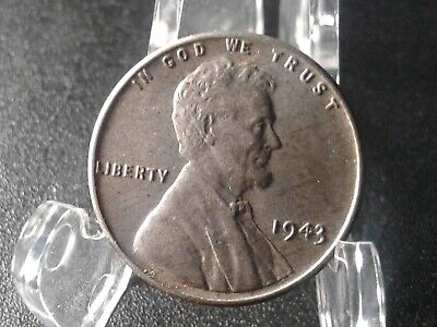 1943 Lincoln Wheat Cent : One Penny Coin : #50 *Wartime Steel*