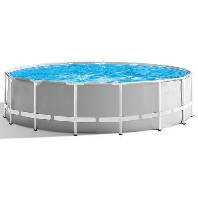 """Intex 15ft x 48"""" Prism Frame Round Swimming Pool  Filter Pump and Accs (26726)"""