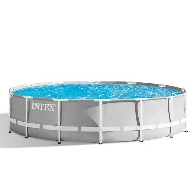 """Intex 14ft x 42""""Prism Frame Round Swimming Pool  Filter Pump and Accs (26720)"""