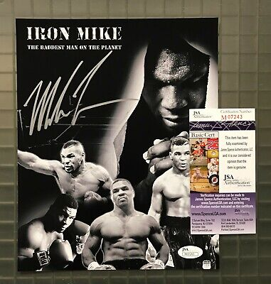 9ddf7fd47db MIKE TYSON SIGNED 8x10 Boxing Photo Autographed AUTO JSA COA HOF ...