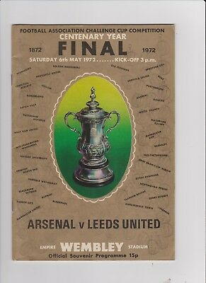 1972 F.A.Cup Final.Arsenal v Leeds United.